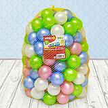 Шарики для сухого бассейна «Перламутровые», диаметр шара 7,5 см, набор 150 штук, цвет розовый, голубой, белый,, фото 7