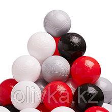 Набор шаров 150 шт, цвета: красный, серый, белый, чёрный
