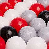 Набор шаров 150 шт, цвета: красный, серый, белый, чёрный, фото 2
