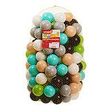 Набор шаров 150 шт, цвета: бирюзовый, серый, белый, чёрный, салатовый, бежевый, диаметр 7,5 см, фото 4