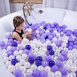 Шарики для сухого бассейна с рисунком, диаметр шара 7,5 см, набор 150 штук, цвет фиолетовый, фото 4