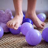 Шарики для сухого бассейна с рисунком, диаметр шара 7,5 см, набор 150 штук, цвет фиолетовый, фото 8
