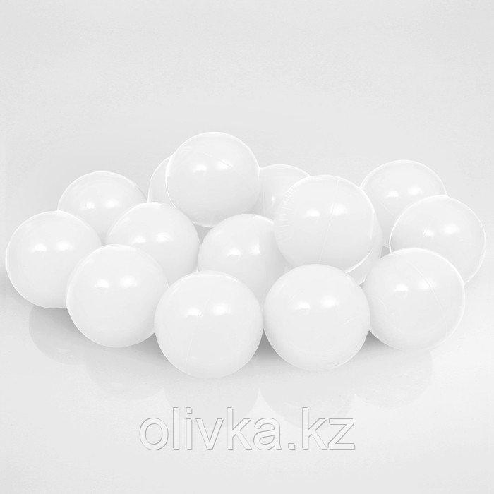 Шарики для сухого бассейна с рисунком, диаметр шара 7,5 см, набор 150 штук, цвет белый