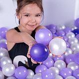 Шарики для сухого бассейна с рисунком, диаметр шара 7,5 см, набор 150 штук, цвет сиреневый, фото 5