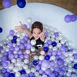 Шарики для сухого бассейна с рисунком, диаметр шара 7,5 см, набор 150 штук, цвет сиреневый, фото 6