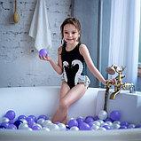 Шарики для сухого бассейна с рисунком, диаметр шара 7,5 см, набор 150 штук, цвет сиреневый, фото 7