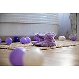 Шарики для сухого бассейна с рисунком, диаметр шара 7,5 см, набор 150 штук, цвет сиреневый, фото 9