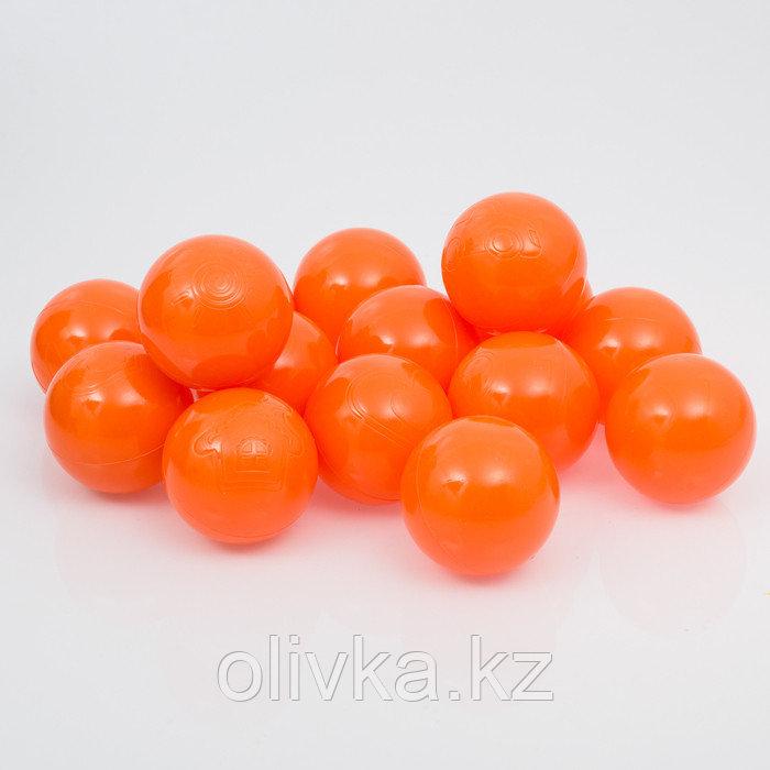 Шарики для сухого бассейна с рисунком, диаметр шара 7,5 см, набор 150 штук, цвет морковный