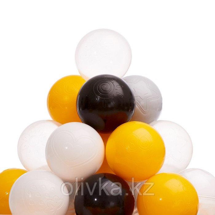 Набор шаров 150 шт, цвета: жёлтый, серый, белый, чёрный, прозрачный