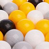Набор шаров 150 шт, цвета: жёлтый, серый, белый, чёрный, прозрачный, фото 2