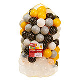 Набор шаров 150 шт, цвета: жёлтый, серый, белый, чёрный, прозрачный, фото 4