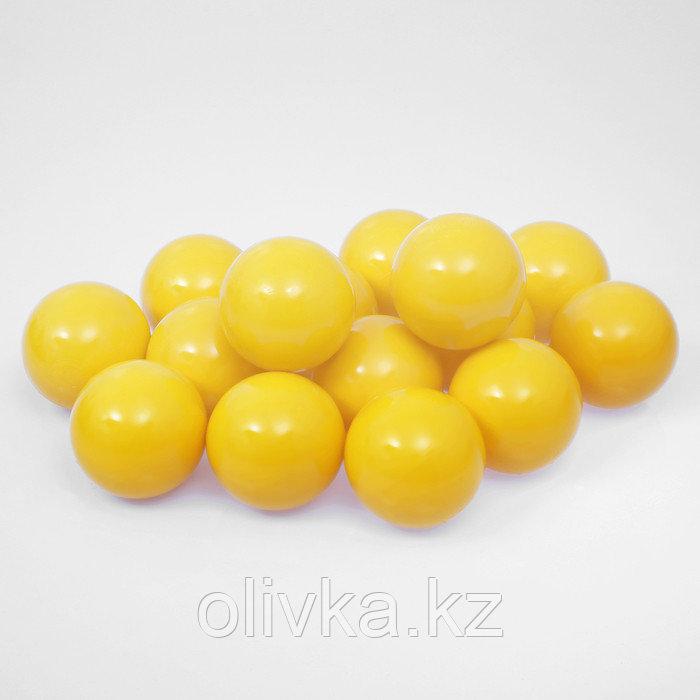 Шарики для сухого бассейна с рисунком, диаметр шара 7,5 см, набор 150 штук, цвет жёлтый