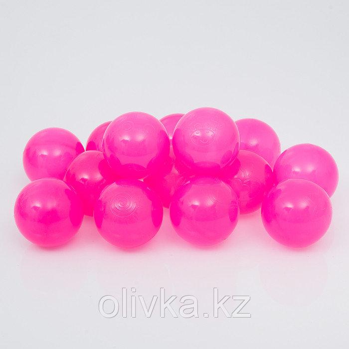 Шарики для сухого бассейна с рисунком, диаметр шара 7,5 см, набор 500 штук, цвет пурпурно-фиолетовый