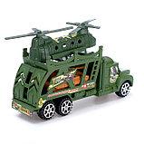 Грузовик инерционный «Военный автовоз» с техникой, МИКС, фото 3