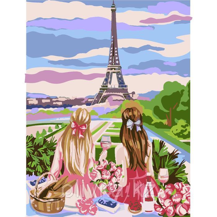 Картина по номерам на холсте с подрамником «Пикник в Париже» 30х40 см