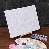 Картина по номерам на холсте с подрамником «Девушка и волк» 30х40 см, фото 2