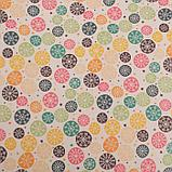 """Бумага упаковочная, крафт, """"Разноцветные снежинки"""", 50 х 70 см, фото 2"""