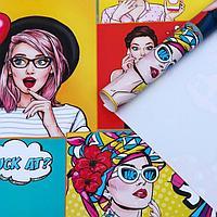 """Набор бумаги упаковочной крафт """"Pop art"""", 50 × 70 см, 2 листа"""