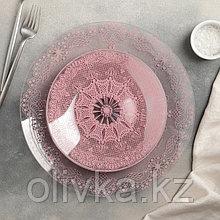 """Сервиз столовый на 6 персон """"Бисерное кружево 2"""": 6 тарелок 20 см, 1 тарелка 30 см"""