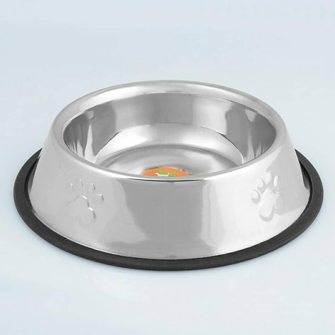 Миска металлическая на резинке для собак, 950 мл