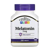 21st Century, Мелатонин, 3 мг, 200 таблеток