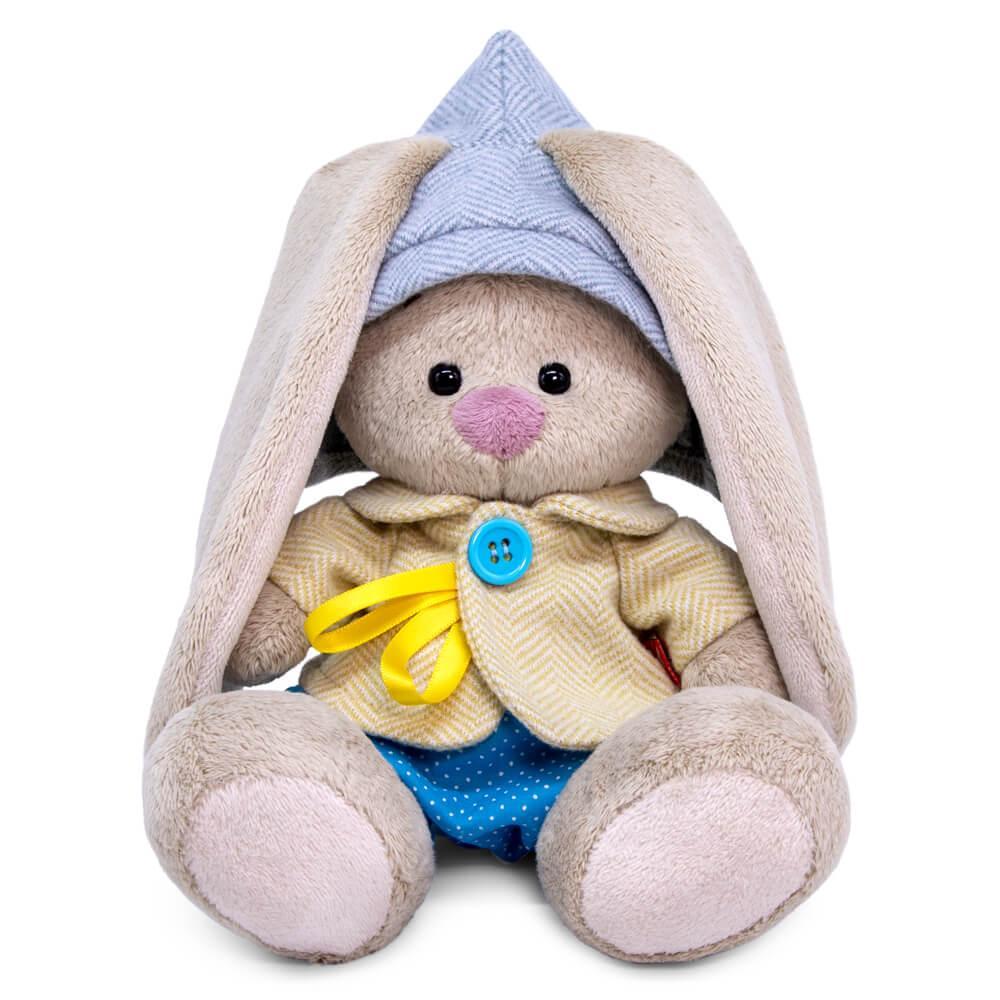 "Мягкая игрушка ""Zaika Mi"" Зайка Ми в твидовом костюме с шортиками (малыш)"