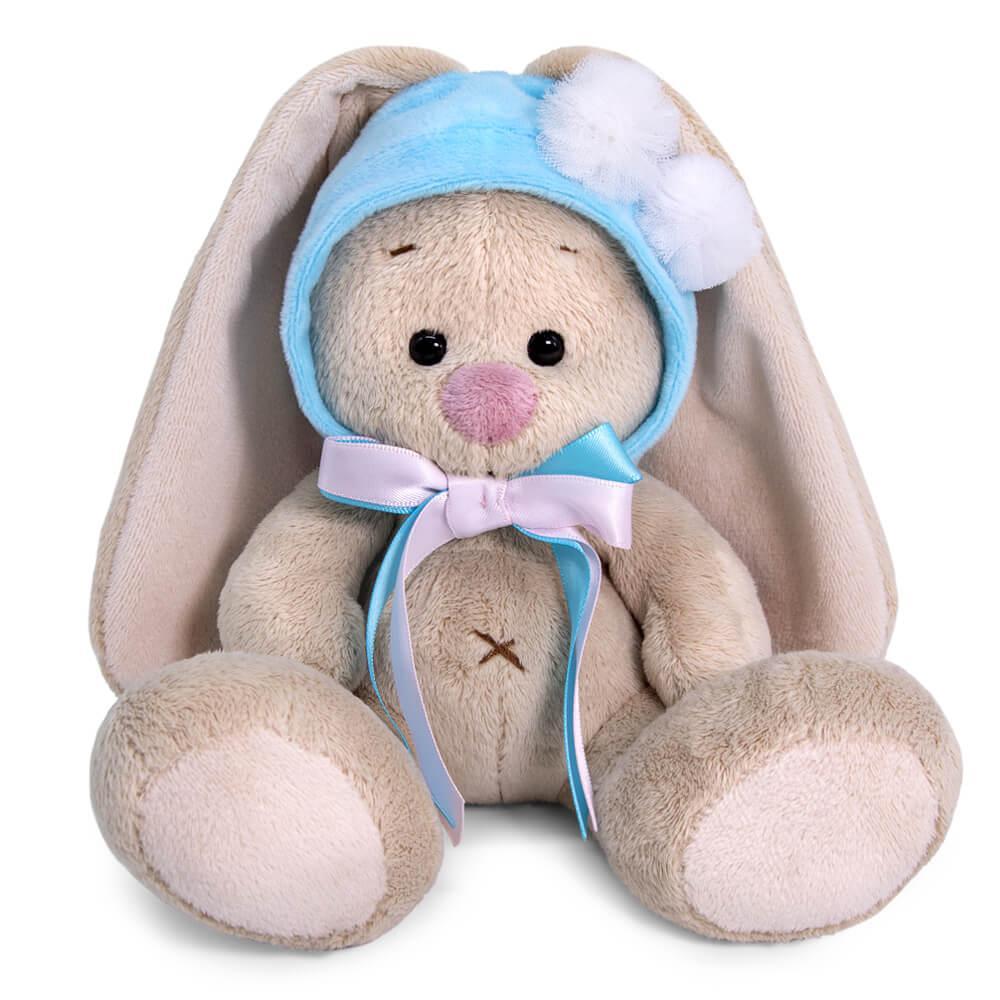 """Мягкая игрушка """"Zaika Mi"""" Зайка Ми в шапочке с белыми помпонами (малыш)"""
