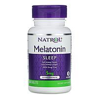 Natrol, Мелатонин, с повышенной силой действия, 5 мг, 60 таблеток