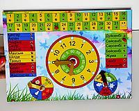 Изучаем время на казахском языке 30*21см (ручная работа)#made in KZ