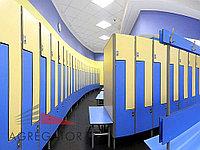 Материал для шкафчиков из HPL панелей в раздевалках