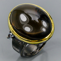 Кольцо с Раух Топазом 22 мм