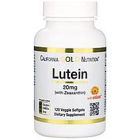Лютеин с зеаксантином, 20 мг, 120 растительных мягких таблеток, California Gold Nutrition.