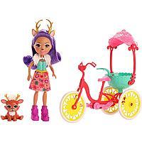 Mattel Enchantimals Велосипедисты с питомцем и транспортным средством GJX30