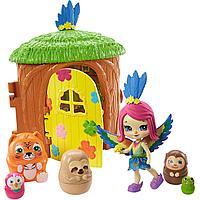Mattel Enchantimals Игровой набор Домик-сюрприз Пикки Какаду GTM49