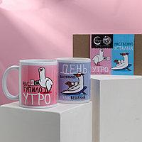 Подарочный набор «Для чая и кофе», кружки 2 шт, 350 мл