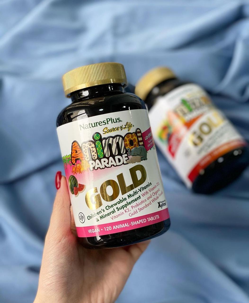 Мультивитамины ANIMAL PARAD GOLD со вкусом арбуза 120 Таб NaturesPlus