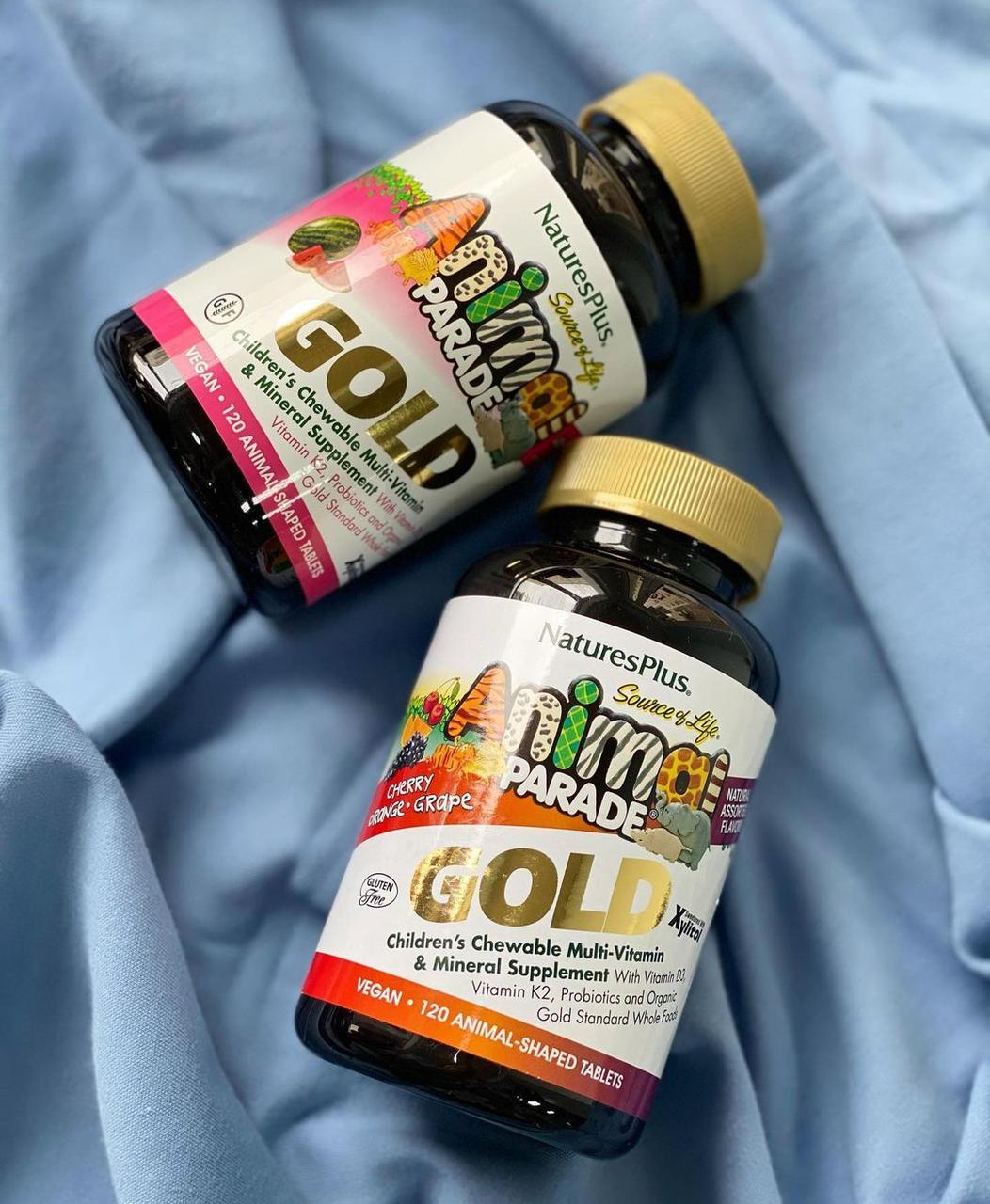 Мультивитамины ANIMAL PARAD GOLD со вкусом Вишни Апельсина Винограда 120 Таб NaturesPlus