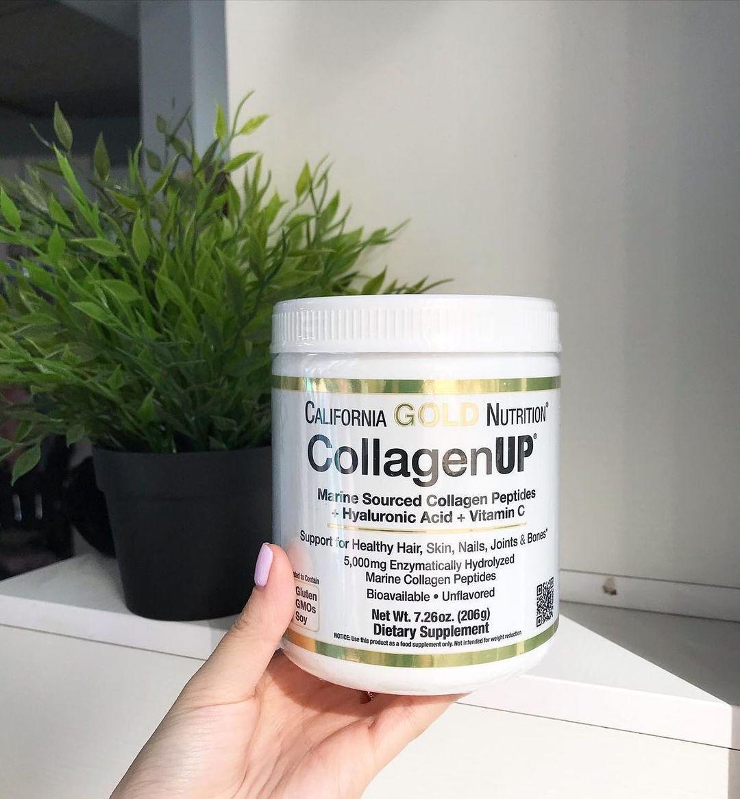 Коллаген 3в1 California Gold Nutrition + гиалуроновая кислота + витамин С