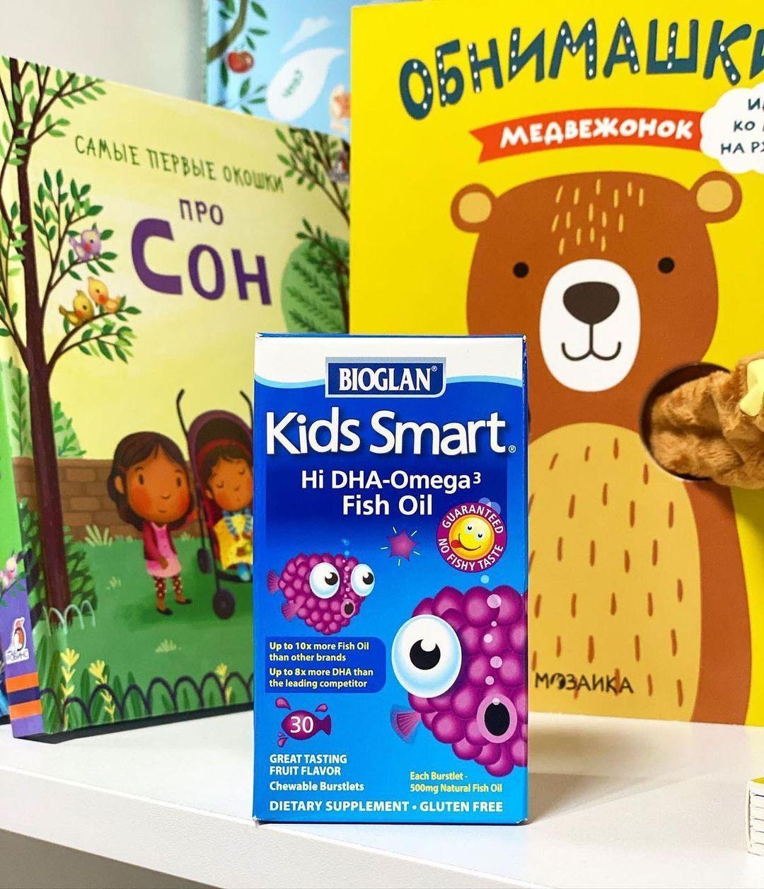 BIoglan, Kids Smart, Omega 3, Fish Oil, 500mg, 30 капсул