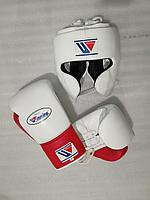 Боксерский набор Шлем+ Перчатка Winning