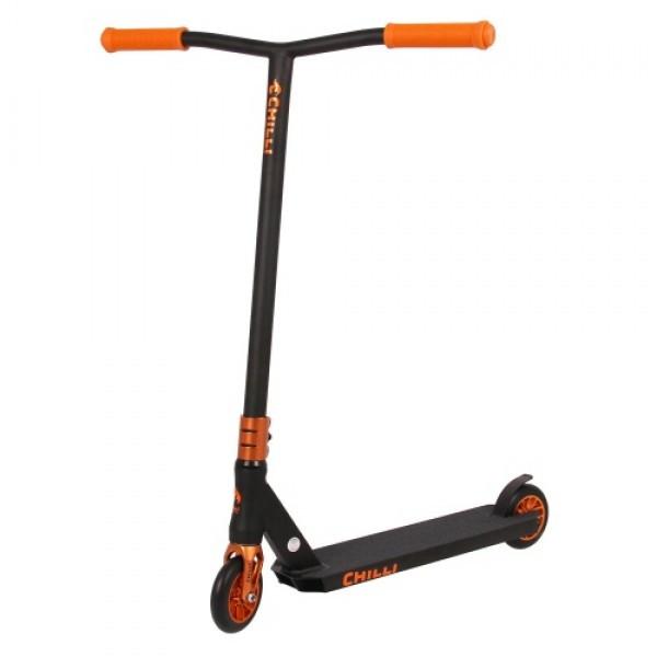 Трюковой самокат Chilli Reaper black-orange (2020)
