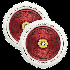 Комплект колес Fuzion 110 mm Hollowcore Wheel (pair) - Marker / White Red Core White PU