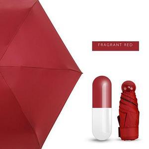 Зонт карманный универсальный Mini Pocket Umbrella (Красный)