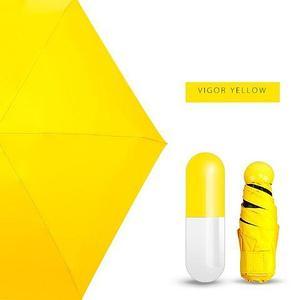 Зонт карманный универсальный Mini Pocket Umbrella (Желтый)