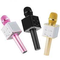 Караоке-микрофон беспроводной TUXUN Q7 со встроенной bluetooth-колонкой (Розовый)