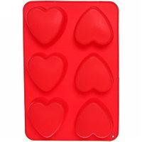 Силиконовая форма для выпечки и шоколада «Праздничные штучки» (Сердечки)