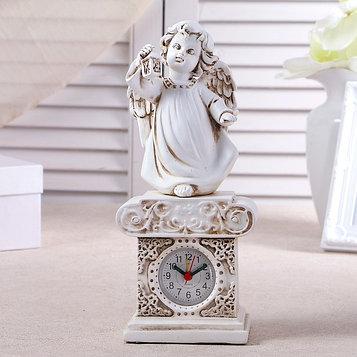 """Часы настольные """"Ангел с фонариком"""", h=25 см"""