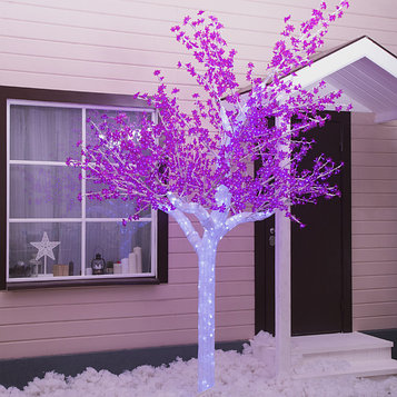 """Дерево светодиодное улич. 3 м. """"Акриловое"""" 2304 Led, 140 W, 220V Фиолетовый"""