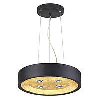 Светильник GLASGOW 4x50Вт GU10 черный, золото