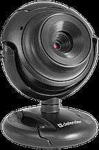 Defender 63252 Веб-камера C-2525HD, 2 МП, кнопка фото, черный